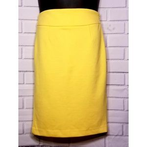 Yellow Pencil Skirt Size 4